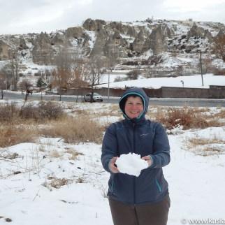 Nieve en Cappadocia