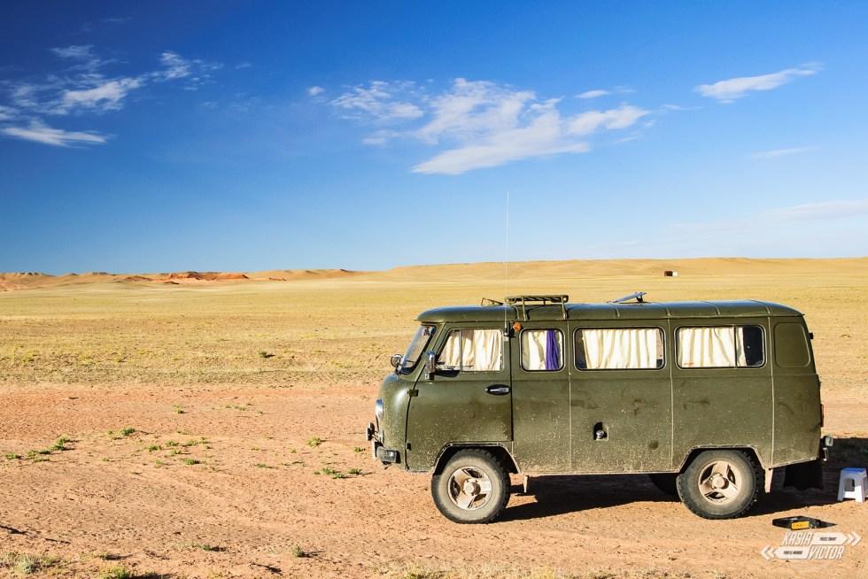 Pustynia Gobi Rosyjski minivan