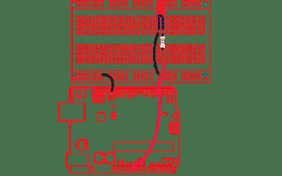 Arduino mikrokontrolleri ja koekytkentälevy