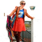 star wars outfit pompom skirt orange blue brown whatiwore2day