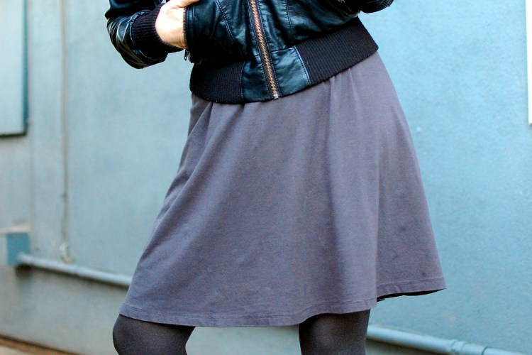 pleather bomber gray dress ootd whatiwore2day