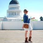 sacramento capitol style fashion ootd whatiwore2day denim jacket tooled leather purse