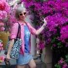 pastel travel outfit ootd whatiwore2day best western susnset boulevard