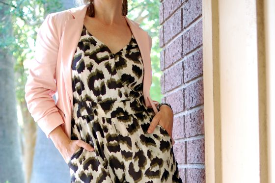 silk leopard romper audition daily outfit blog ootd whatiwore2day