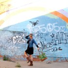 clovis rainbow mural ootd daily outfit blog whatiwore2day
