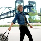 denver tech center denim jacket daily outfit blog ootd whatiwore2day
