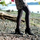 shiny faux leather mesh insert leggings daily outfit blog whatiwore2day ootd