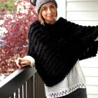 fur poncho boho daily outfit blog ootd whatiwore2day