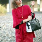 monochrome poncho daily outfit blog ootd whatiwore2day