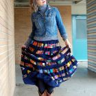 casual ootd vintage maxi skirt daily outfit blog denim jacket whatiwore2day