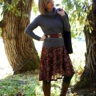 belted sweater over dress daily outfit blog whatiwore2day ootd