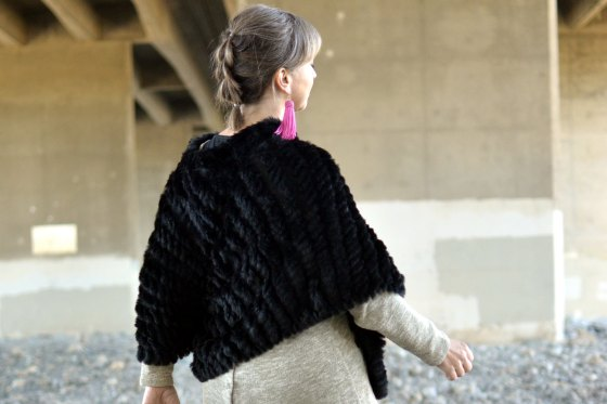 poncho pull thru braid faux dutch daily outfit blog whatiwore2day ootd
