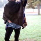 poncho leggings and cutoffs daily outfit blog ootd whatiwore2day