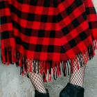 fishnet socks buffalo plaid skirt daily outfit blog ootd whatiwore2day
