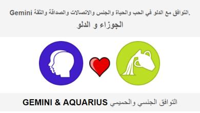 Photo of الجوزاء التوافق مع الدلو في الحب والحياة والجنس والاتصالات والصداقة والثقة.