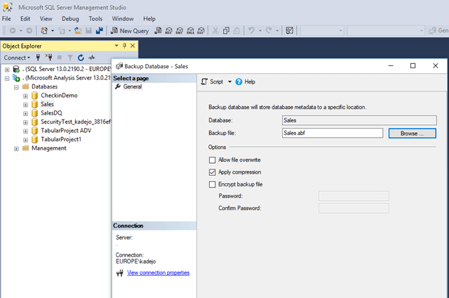 Getting your on premises SSAS Tabular model to Azure