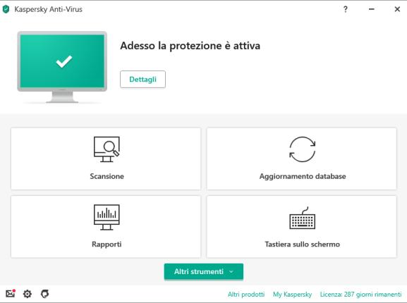 Kaspersky Anti-Virus Interface