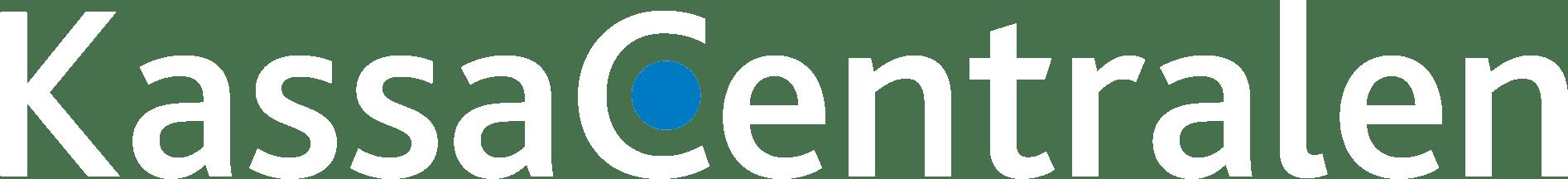 Kassacentralen logo vit