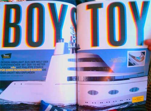 Artikel in GQ über die coolste MegaYacht der Welt - gebaut im wunderschönen Kiel