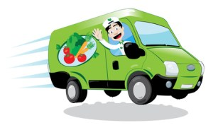 fresh food delivery van
