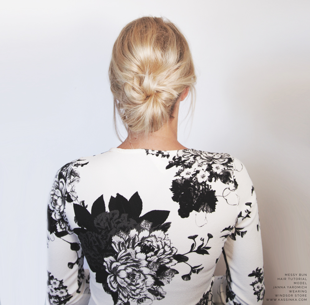 Kassinka-Messy-Bun-Hair-Tutorial