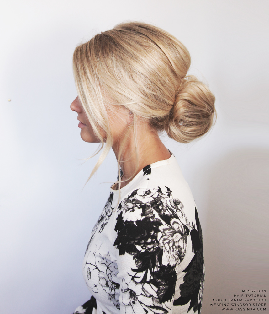 How to make a messy bun with short hair