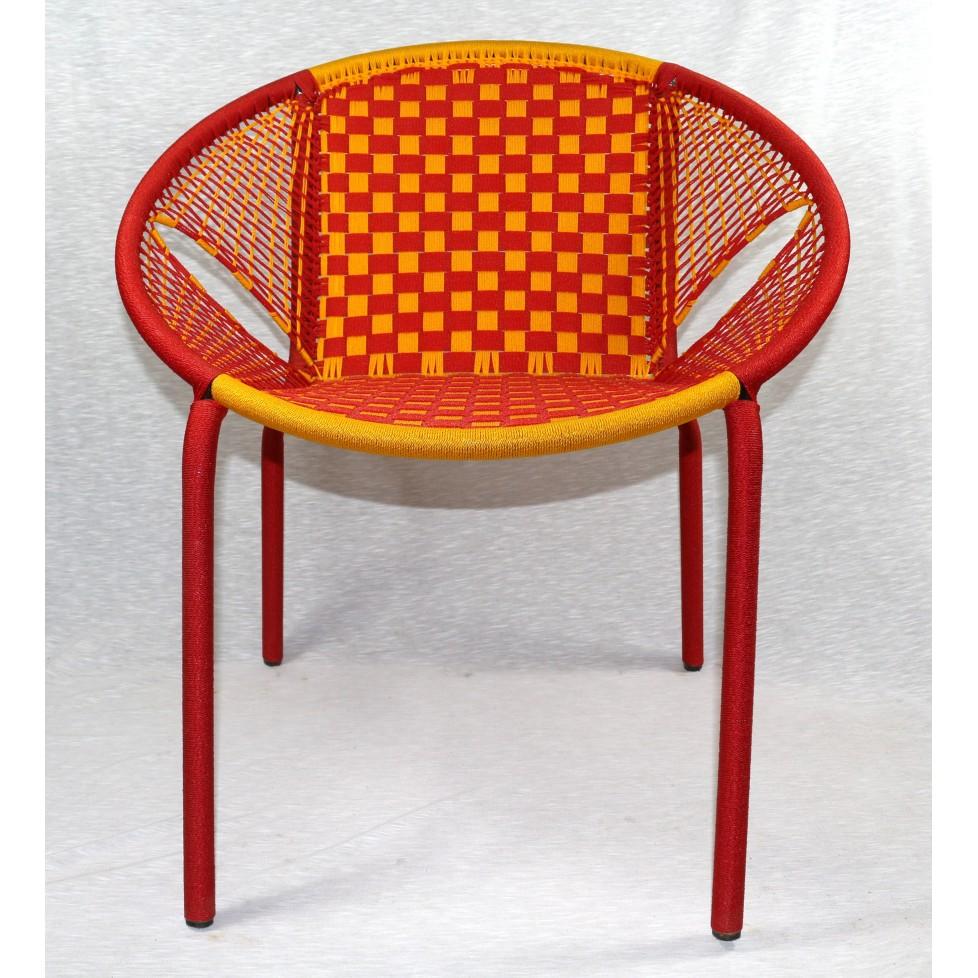 chaise linguere en fils de peche grande
