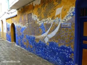 Von Künstlern gestaltete Wand