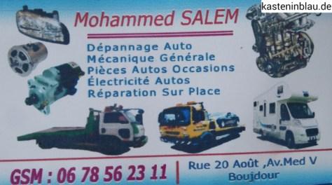 Autowerkstatt in Boujdour