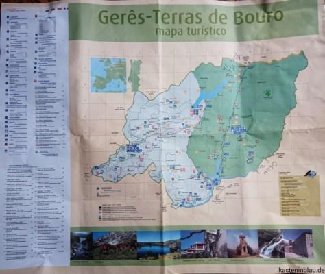 Karte Nationalpark Peneda geres www.kasteninblau.de