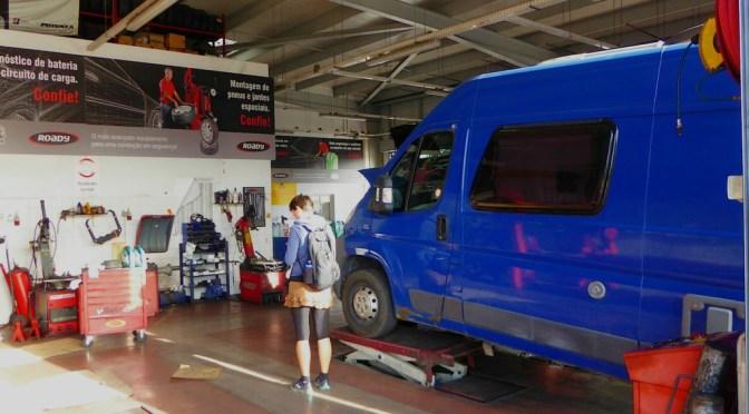 Autowerkstatt in Portugal