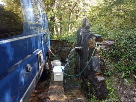 Wasser tanken in Nordspanien