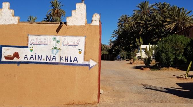 "Campingplatz ""Aain Nakhla"" (Oase Tighmert / Guelmim) – Unser Lieblingsplatz in Marokko!"