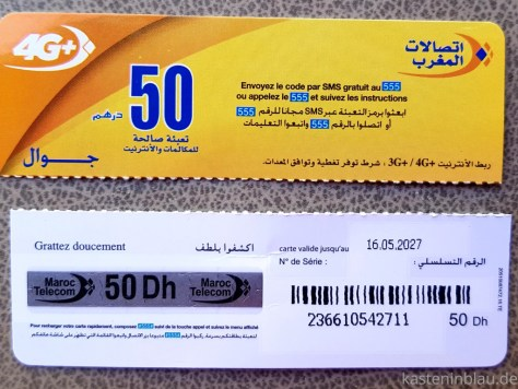 Aufladekarte Recharge Maroc Telecom