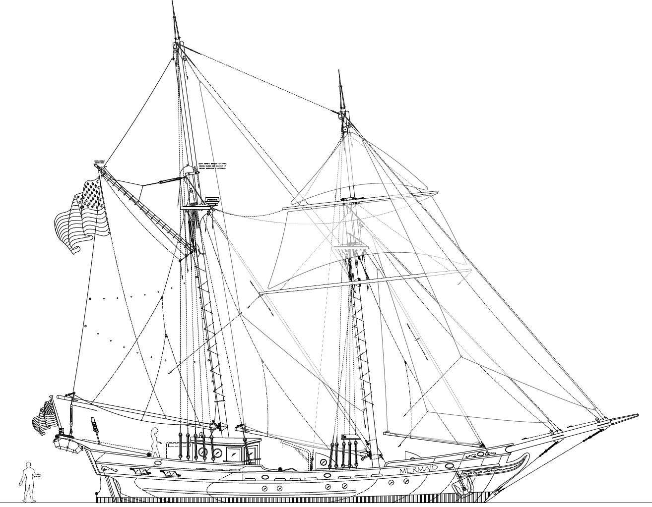 Florence G Sailing Schooner Plans
