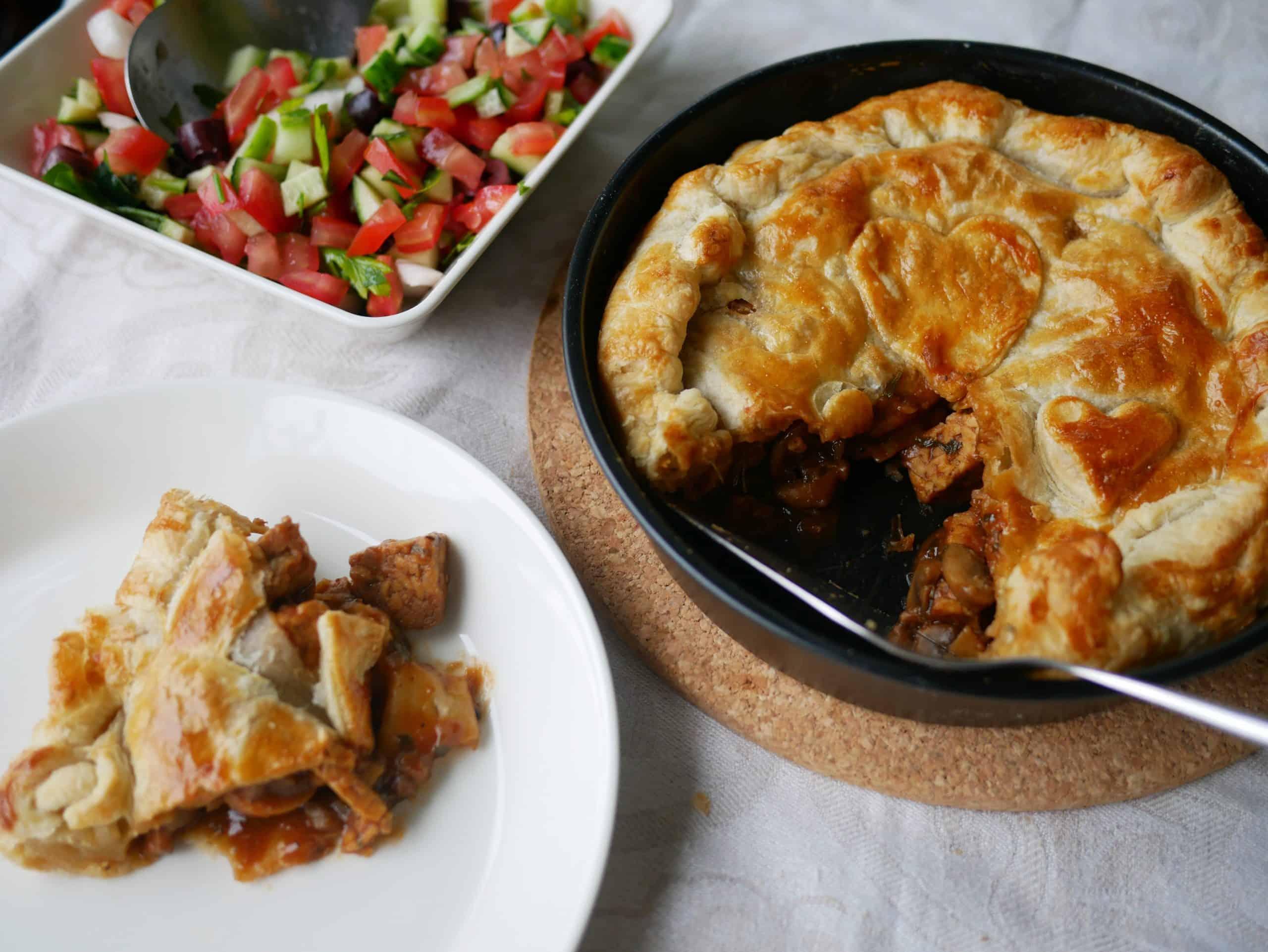 Tempeh & ale pie – Brittiläistä pubiruokaa