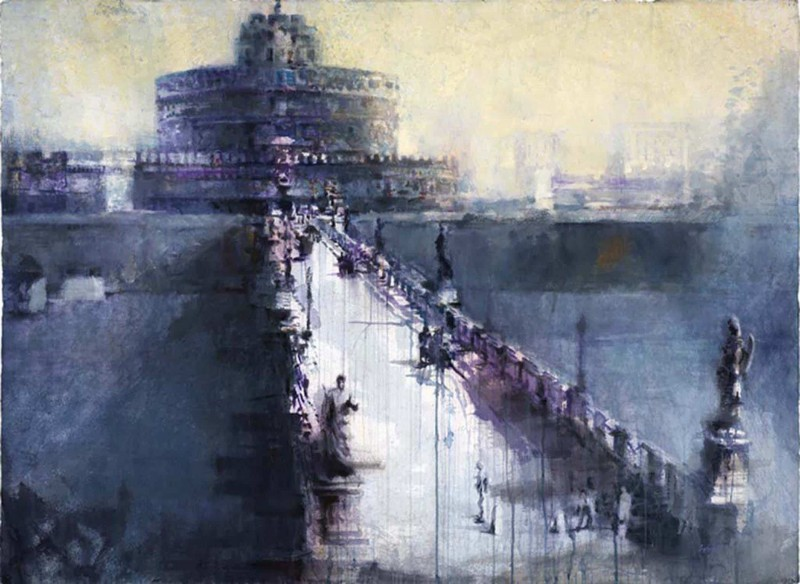 Castel S'Angelo By Antonio Masi, Watercolor Painting