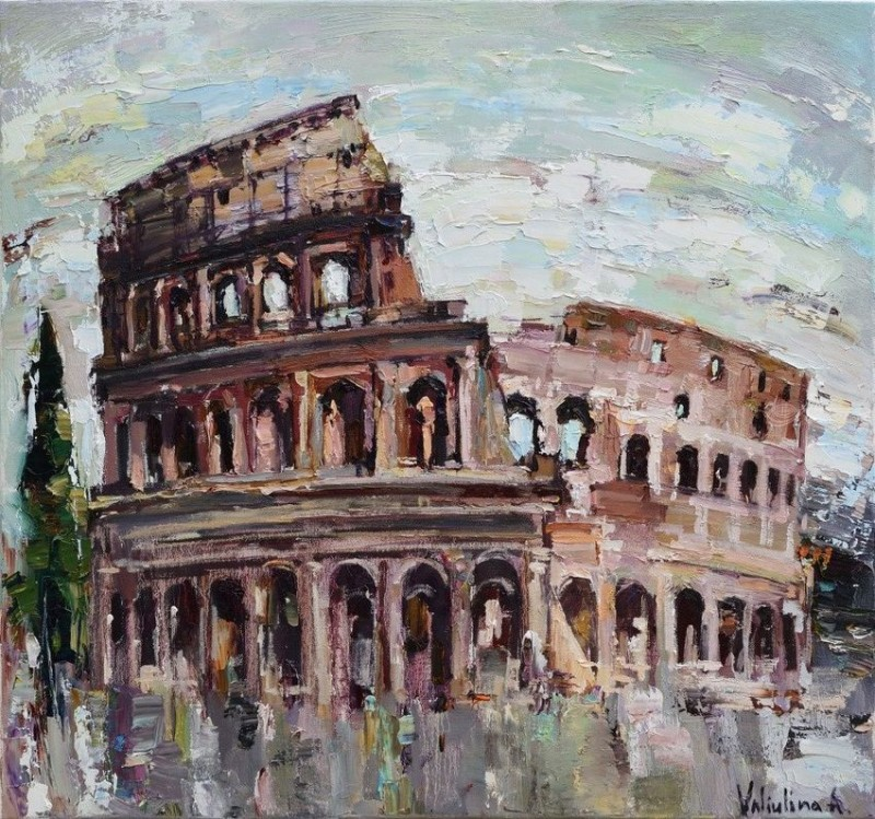 Colosseum By Anastasiya Valiulina, Oil Painting