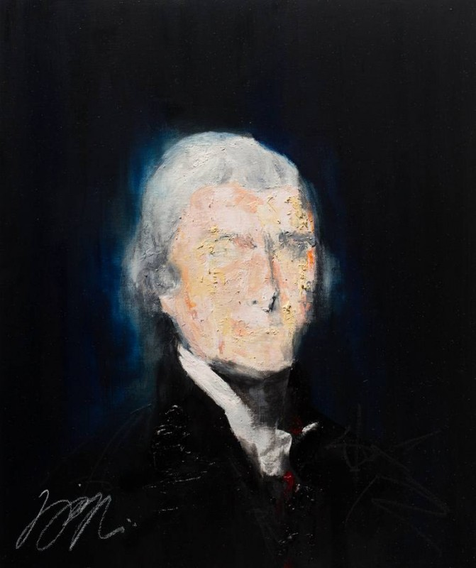 Thomas Jefferson By Tomoya N, Acrylic Painting