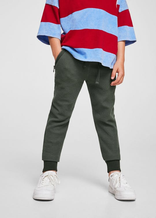 Textured Jogging Trousers By Mango