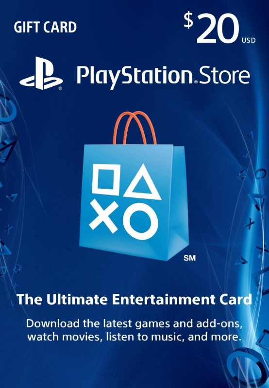 PlayStation Store 20 $ Gift Card - PS3/ PS4/ PS Vita - Digital Code