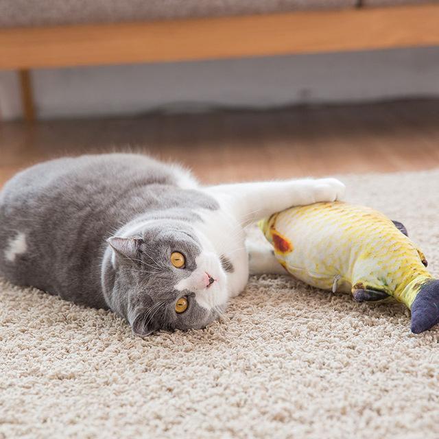 leukste goedkoopste kattenspeeltje Pluche vis met cat nip