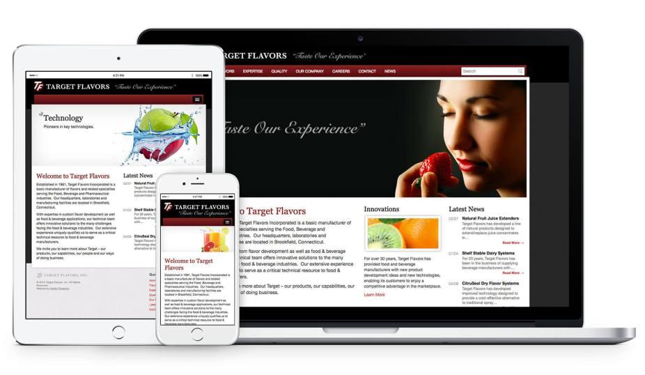 Responsive Web Design - Target Flavors