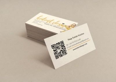 Névjegy kártya katartdesign női kreatív vállalkozásoknak