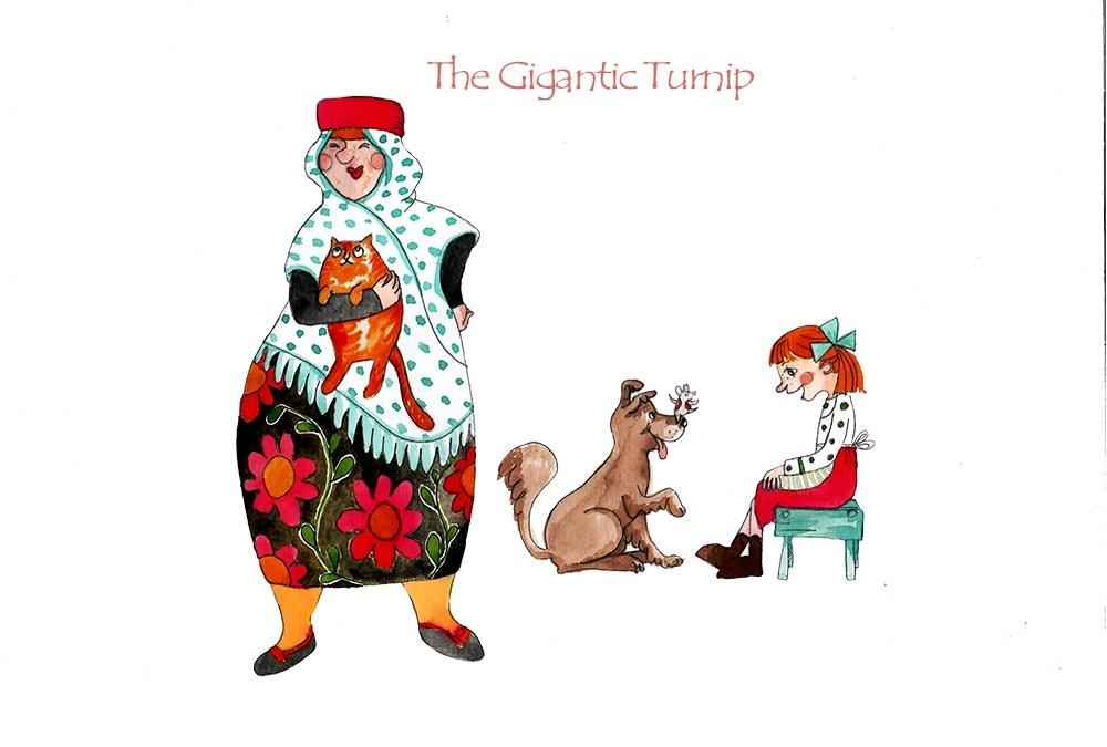 The gigantic turnip – poses2