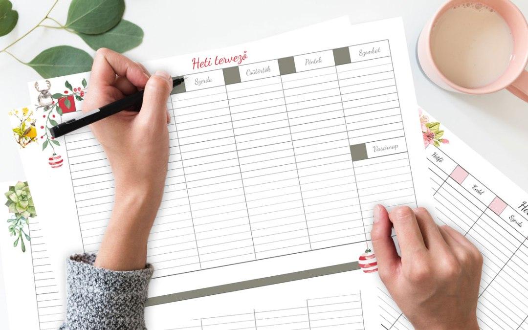 Milyen a jó naptár, vagy tervező? Időbeosztásról, célmeghatározásról Ingyenes heti tervezővel