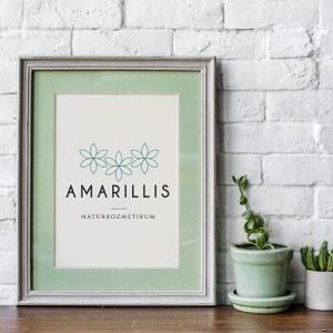 Amarillis virágos, modern, letisztult, nőies logó kisvállalkozásoknak