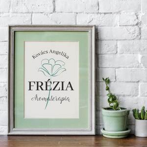 Frézia virágos, modern, letisztult, nőies logó kisvállalkozásoknak