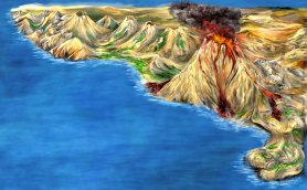 Wybuchający Wulkan