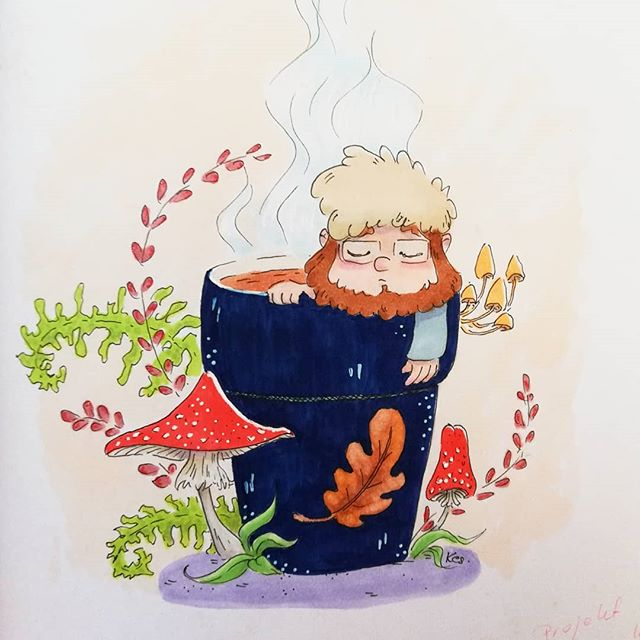 Instagram - Forest inspiration #tatawilkołak #forest #inspiration #childrensillustration #sketchbook #copic #dziecko #drawing #art #artwork #illustrator #analogillustration #people #characterdesign #magical #atmosphere #dailyart #characters #creature #las #miniworld #kidsillustration #muschroom #toadstool #coffee #coffeebreak